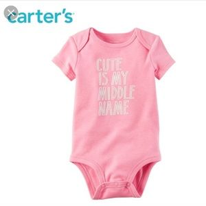 *5 for $20 Sale* Carter's Cute is My Middle Name